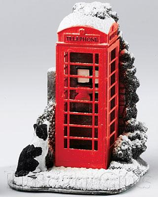 Lilliput Lane Telephone Box In Snow