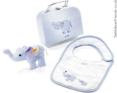 Steiff Baby Little Circus Elephant Gift Set