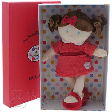 Doudou et Compagnie Little Girls Miss Raspberry Doll