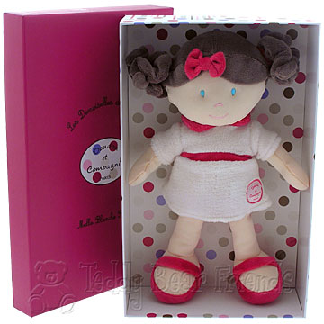 Doudou et Compagnie Little Girls Miss White Rose Doll