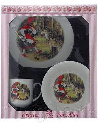 Reutter Porcelain Little Red Riding Hood Nursery Set