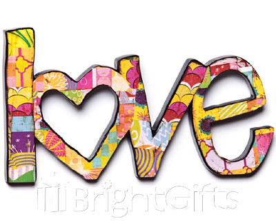 Colorful Devotions Love Wall Sculpture