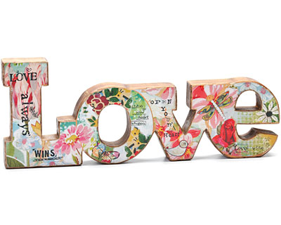 Kelly Rae Roberts Love Word Sculpture