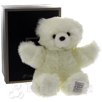Histoire d'Ours Medium Gift Boxed White Teddy Bear