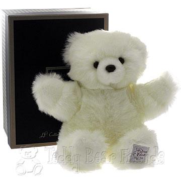 Histoire d'Ours Medium Gift Boxed White Teddy Bear