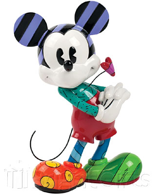 Disney Britto Mickey Mouse With Heart Figurine