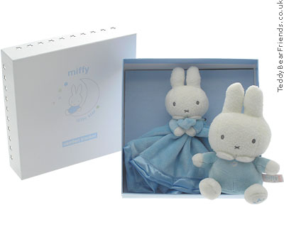 Rainbow Designs Miffy Bunny Rattle and Comforter