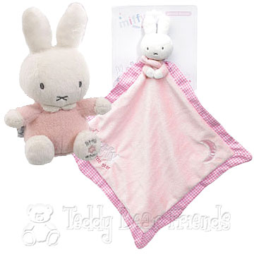 Rainbow Designs Miffy Toy And Comfort Blanket