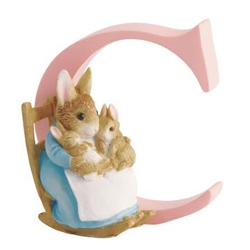 Border Fine Arts Mrs Rabbit and Bunnies Letter C