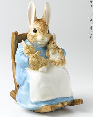 Border Fine Arts Mrs Rabbit with Babies Moneybox