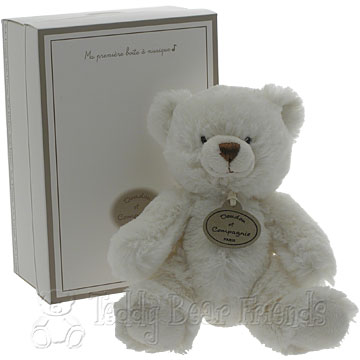 Doudou et Compagnie Musical White Teddy Bear