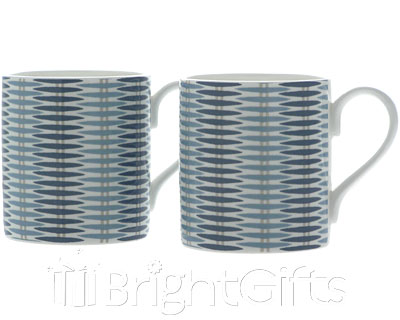 Roy Kirkham Nina Campbell Basket Weave Mugs