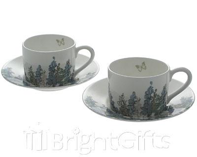 Roy Kirkham Nina Campbell Fairfield Teacups Saucers