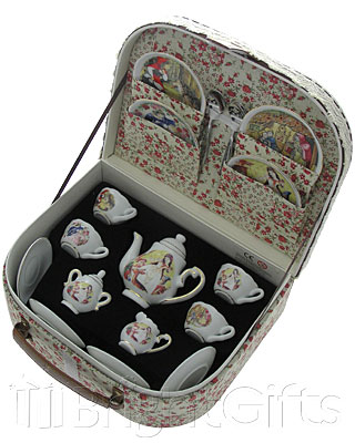 Reutter Porcelain Nursery Tales Miniature Teaset in Case