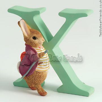 Border Fine Arts Old Mr Benjamin Bunny Letter X