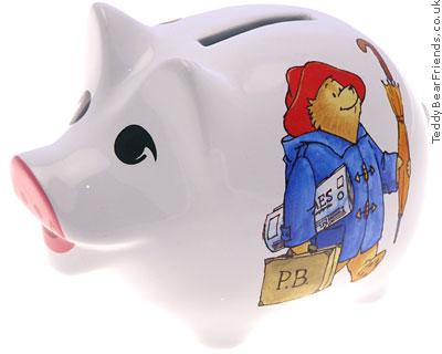 Reutter Porcelain Paddington Bear Piggy Bank