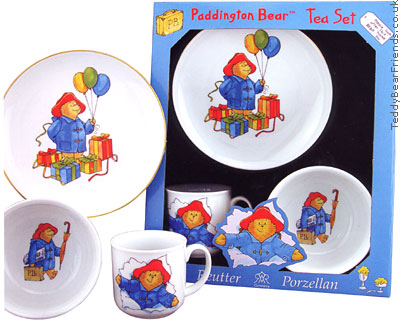 Reutter Porcelain Paddington Bear Tea Set