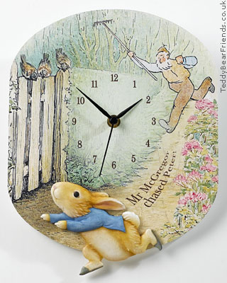 Border Fine Arts Peter Rabbit Clock