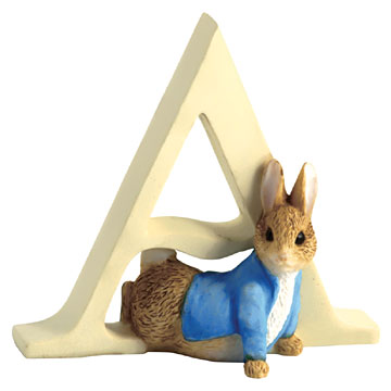 Border Fine Arts Peter Rabbit Letter A