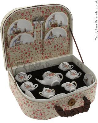 Reutter Porcelain Peter Rabbit Miniature Teaset