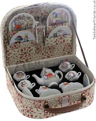 Reutter Porcelain Peter Rabbit Miniature Tea Set