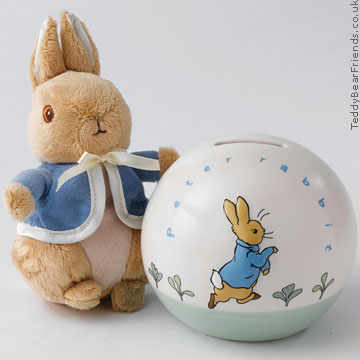 Border Fine Arts Peter Rabbit Money Box and Soft Toy