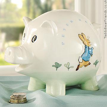 Border Fine Arts Peter Rabbit Piggy Bank
