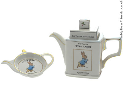 Churchill Peter Rabbit Teapot and Teabag Tidy