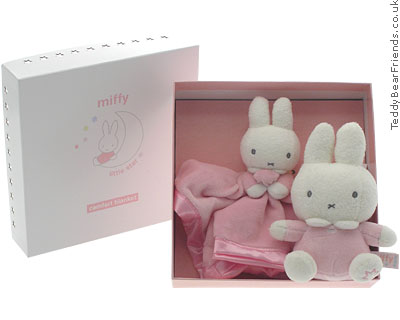 Rainbow Designs Miffy Bunny Comforter and Rattle
