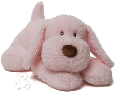 Baby Gund Pink Puppy Dog Soft Toy