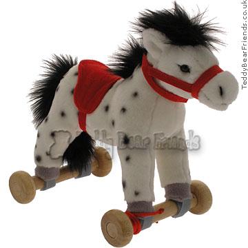 Teddy Hermann Pony on Wheels