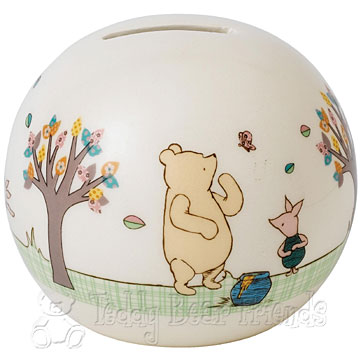 Border Fine Arts Pooh and Piglet Money Bank