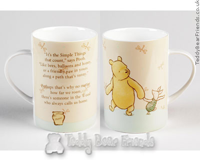 Border Fine Arts Pooh and Piglet Mugs