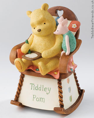 Border Fine Arts Pooh and Piglet Rocking Chair Money Bank