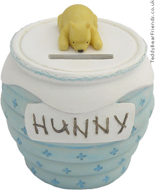 Pepperpot Pooh Baby Blue Money Bank