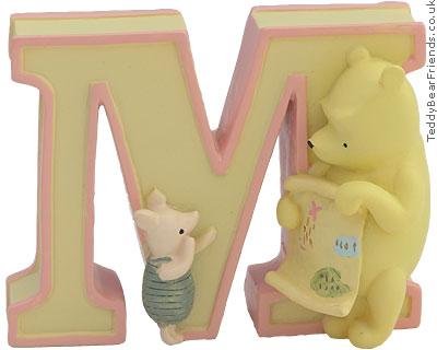 Pepperpot Pooh Bear Alphabet M