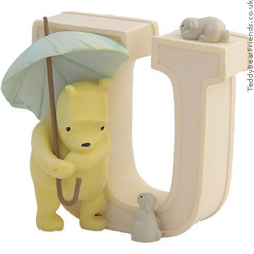 Pepperpot Pooh Bear Alphabet U