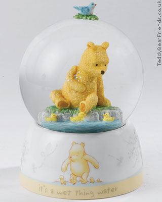 Border Fine Arts Pooh Bear and Ducklings Waterball
