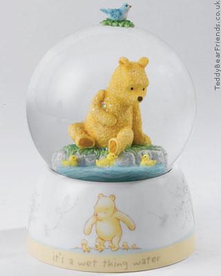 Border Fine Arts Pooh Bear and Ducklings Waterball