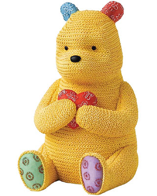 Border Fine Arts Pooh Money Bank Knitted