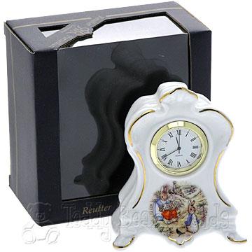 Reutter Porcelain Peter Rabbit Clock
