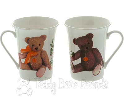 Teddy Hermann Porcelain Teddy Bear Mugs