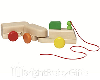 Selecta Wobble Train Pull Along Toy