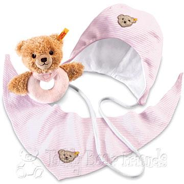 Steiff Baby Sleep Well Bear Grip Toy Gift Set