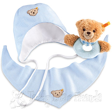 Steiff Baby Sleep Well Teddy Bear Grip Toy Gift Set