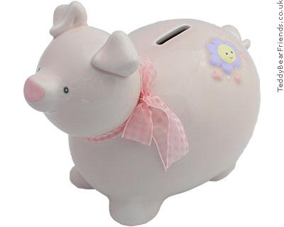 Baby Gund Pink Piggy Bank