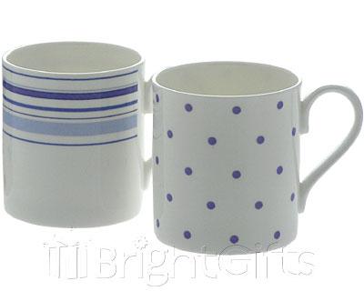 Roy Kirkham Spots and Stripes Coffee Mugs
