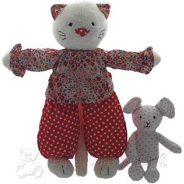 Jellycat Spotty Kitty And Bebe Mouse