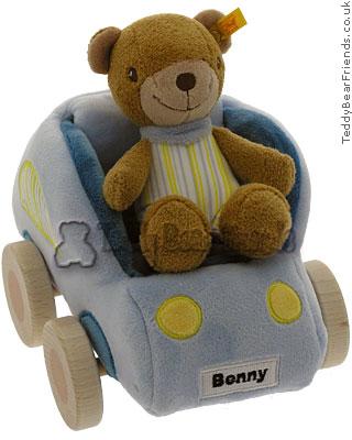Steiff Baby Benny Bear Pull Car Toy