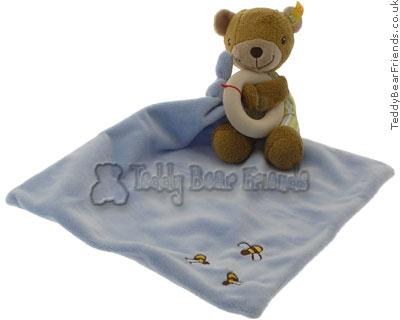 Steiff Baby Benny Bear Rattle and Blanket